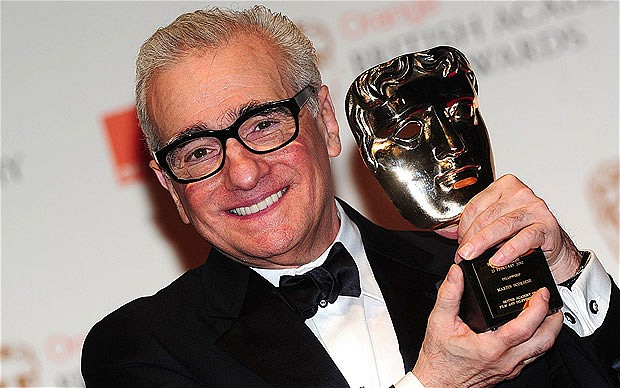 Scorsese with Bafta