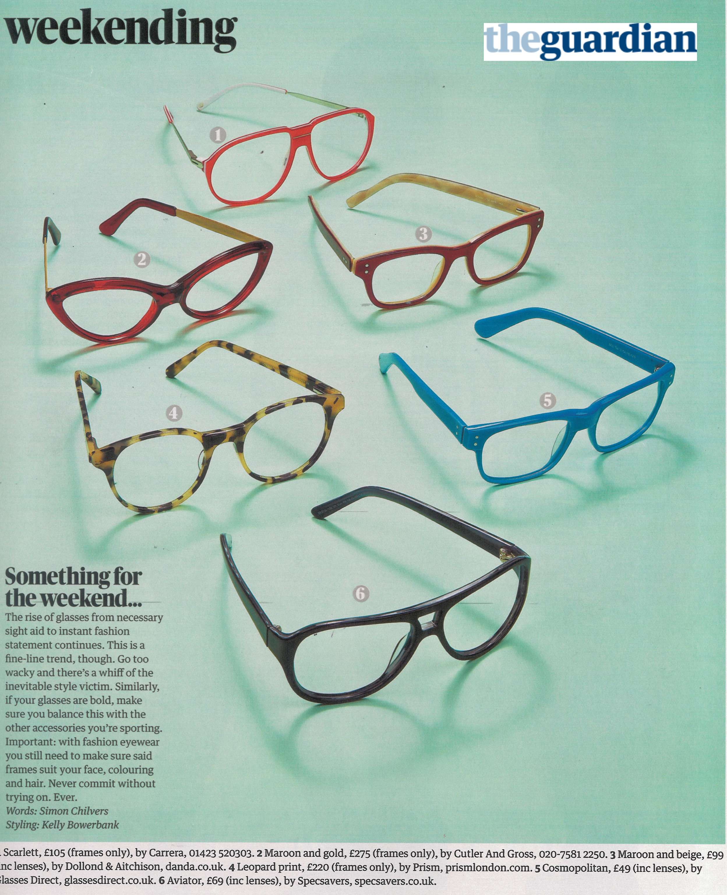 eyewear direct  Glasses Direct in the Guardian: Changes in Style