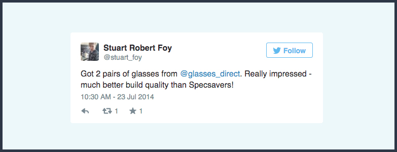 3 Stand Out Tweets That Reveal The True Benefits Of Buying Glasses Online