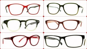 Red and green frames collage
